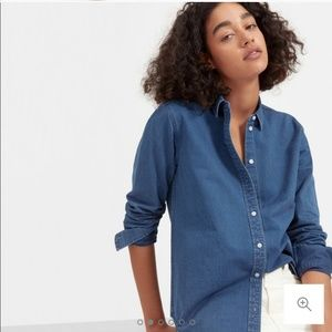 Everlane The Relaxed Jean Shirt Chambray Button-up